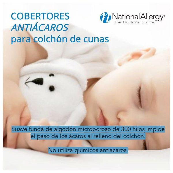 Protector anti ácaros de cuna - National Allergy