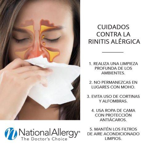 Cuidados contra la rinitis alergica - National Allergy Perú