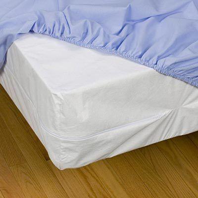 Protector de colchón anti ácaros standard colocado en colchón